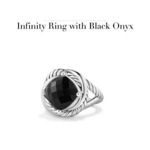 DAVID YURMAN INFINITY RING with BLACK ONYX
